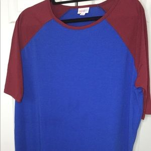 Cobalt and red Irma tunic